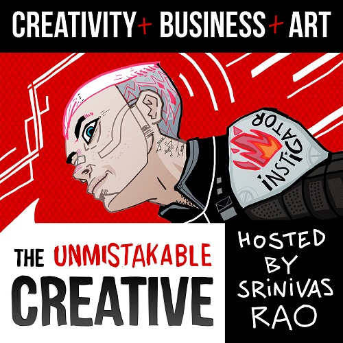 Srini Rao-Unmistakable Podcast Cover Art